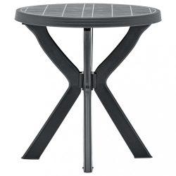 antracitszürke műanyag bisztróasztal ?70 cm