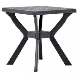 antracitszürke műanyag bisztróasztal 70 x 70 x 72 cm