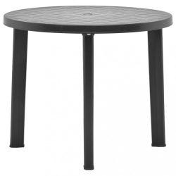 antracitszürke műanyag kerti asztal 89 cm