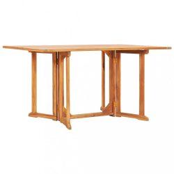 tömör tíkfa lehajtható lapú kerti asztal 150 x 90 x 75 cm