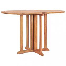 tömör tíkfa lehajtható lapú kerti asztal 120 x 70 x 75 cm