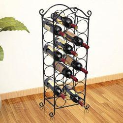 fém bortartó állvány 21 palackhoz