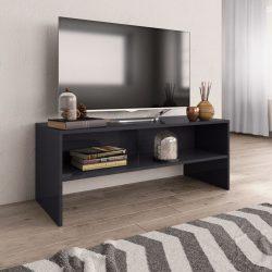 magasfényű szürke forgácslap TV-szekrény 100 x 40 x 40 cm