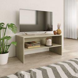 sonoma tölgy színű forgácslap TV-szekrény 80 x 40 x 40 cm