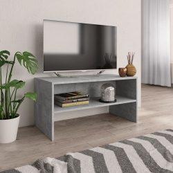 betonszürke forgácslap TV-szekrény 80 x 40 x 40 cm