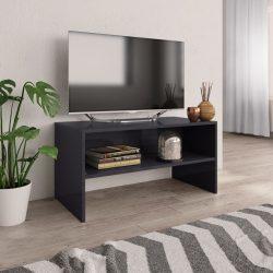 magasfényű szürke forgácslap TV-szekrény 80 x 40 x 40 cm