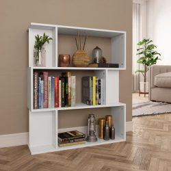 fehér forgácslap könyvszekrény/térelválasztó 80 x 24 x 96 cm