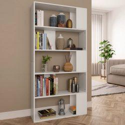 fehér forgácslap könyvszekrény/térelválasztó 80x24x159 cm