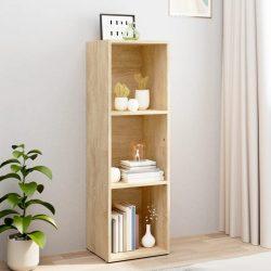 sonoma tölgy színű forgácslap könyv-/TV-szekrény 36x30x114 cm