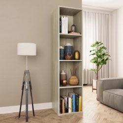 sonoma tölgy színű forgácslap könyv-/TV-szekrény 36x30x143 cm