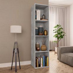 betonszürke forgácslap könyv-/TV-szekrény 36 x 30 x 143 cm