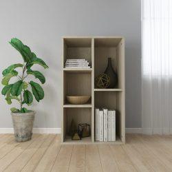 sonomatölgy-színű forgácslap könyv-/tálalószekrény 45x25x80 cm