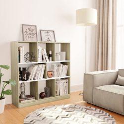 fehér-sonoma színű forgácslap könyvszekrény 97,5x29,5x100 cm