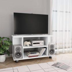fehér forgácslap TV-szekrény görgőkkel 80 x 40 x 40 cm