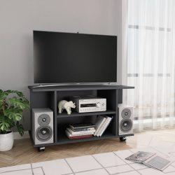 szürke forgácslap TV-szekrény görgőkkel 80 x 40 x 40 cm