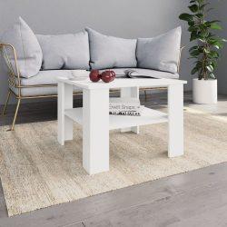 fehér forgácslap dohányzóasztal 60 x 60 x 42 cm