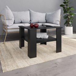 fekete forgácslap dohányzóasztal 60 x 60 x 42 cm