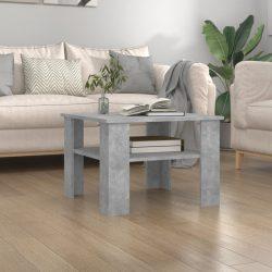 betonszürke forgácslap dohányzóasztal 60 x 60 x 42 cm