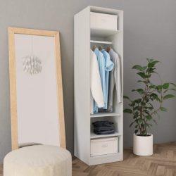 fehér forgácslap ruhásszekrény 50 x 50 x 200 cm