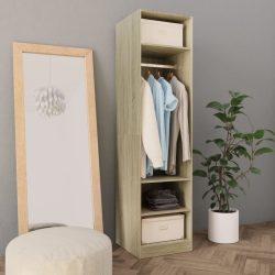 sonoma tölgy színű forgácslap ruhásszekrény 50 x 50 x 200 cm