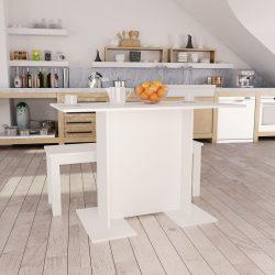 fehér forgácslap étkezőasztal 110 x 60 x 75 cm