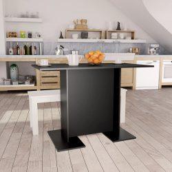 fekete forgácslap étkezőasztal 110 x 60 x 75 cm