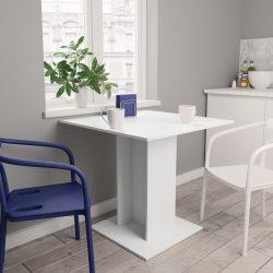 fehér forgácslap étkezőasztal 80 x 80 x 75 cm