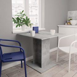 betonszürke forgácslap étkezőasztal 80 x 80 x 75 cm