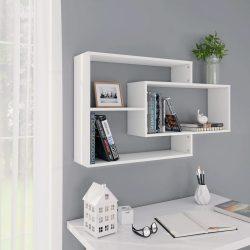 fehér forgácslap fali polcok 104 x 20 x 60 cm