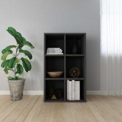 fekete forgácslap könyv-/tálalószekrény 66 x 30 x 97,8 cm