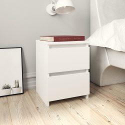 2 db fehér forgácslap éjjeliszekrény 30 x 30 x 40 cm