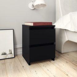 2 db fekete forgácslap éjjeliszekrény 30 x 30 x 40 cm