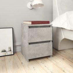 2 db betonszürke forgácslap éjjeliszekrény 30 x 30 x 40 cm