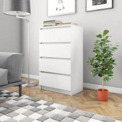 fehér forgácslap tálalószekrény 60 x 35 x 98,5 cm