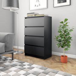 fekete forgácslap tálalószekrény 60 x 35 x 98,5 cm