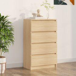 sonomatölgy színű forgácslap tálalószekrény 60 x 35 x 98,5 cm