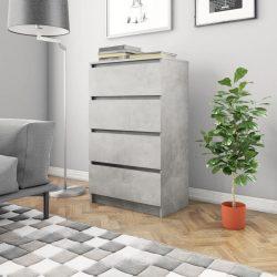 betonszürke forgácslap tálalószekrény 60 x 35 x 98,5 cm