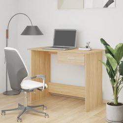 sonomatölgy színű forgácslap íróasztal 100 x 50 x 76 cm
