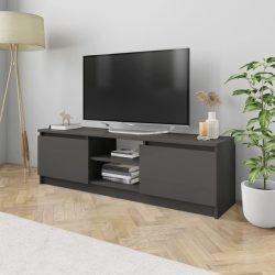 magasfényű szürke forgácslap TV szekrény 120 x 30 x 35,5 cm