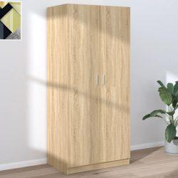 sonoma-tölgy színű forgácslap ruhásszekrény 80 x 52 x 180 cm