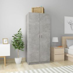 betonszürke forgácslap ruhásszekrény 80 x 52 x 180 cm