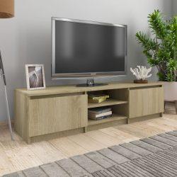 Sonoma-tölgy színű forgácslap TV-szekrény 140 x 40 x 35,5 cm