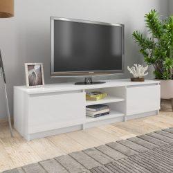 magasfényű fehér forgácslap TV-szekrény 140 x 40 x 35,5 cm