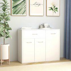 fehér forgácslap tálalószekrény 88 x 30 x 70 cm
