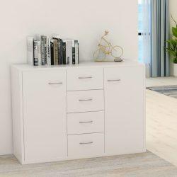 fehér forgácslap tálalószekrény 88 x 30 x 65 cm