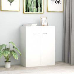 fehér forgácslap tálalószekrény 60 x 30 x 75 cm