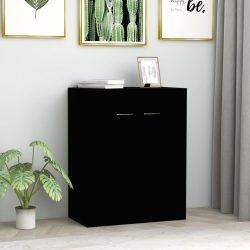 fekete forgácslap tálalószekrény 60 x 30 x 75 cm