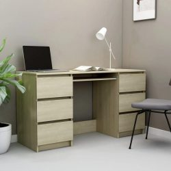 sonoma-tölgy forgácslap íróasztal 140 x 50 x 77 cm