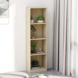 4-szintes sonoma színű forgácslap könyvszekrény 40x24x142 cm