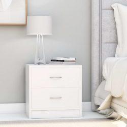 fehér forgácslap éjjeliszekrény 40 x 30 x 40 cm